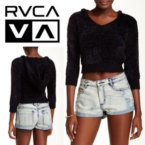 RVCA Cropped Hooded Sweater